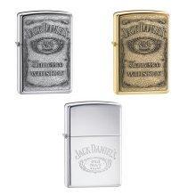 Genuine Zippo Jack Daniels Lighter - Windproof - Jd Brass Pewter Chrome