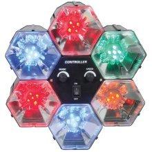 QTX 6-Way LED Party Light Pod | Multicoloured Disco Light Lamp