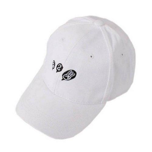 One Two Three Sports Caps Fashion Caps Ladies Baseball Caps White