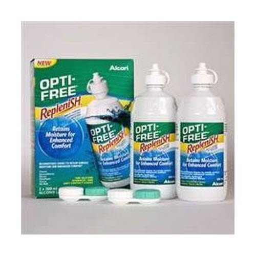 Opti Free Replenish 2 x 300ml 3 Months Pack Contact Lens Solution