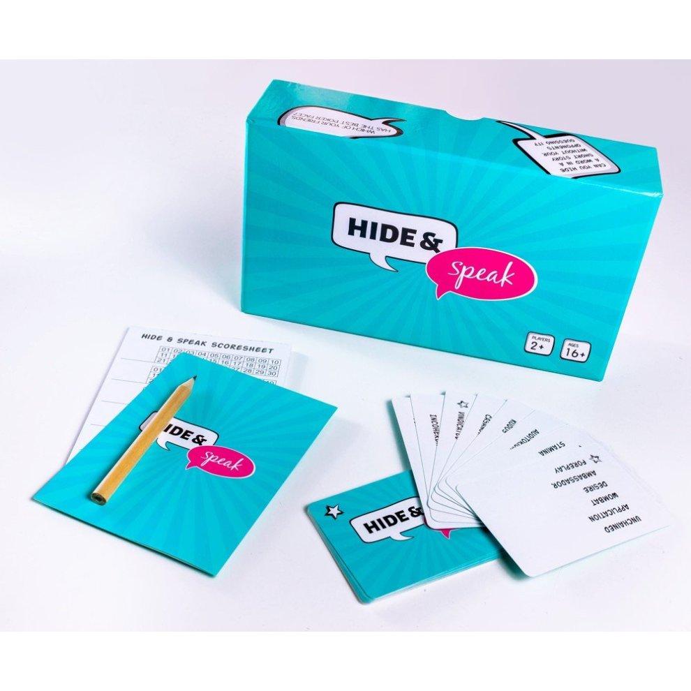 """Vaizdo rezultatas pagal užklausą """"Hide & Speak - The fun storytelling card game"""""""