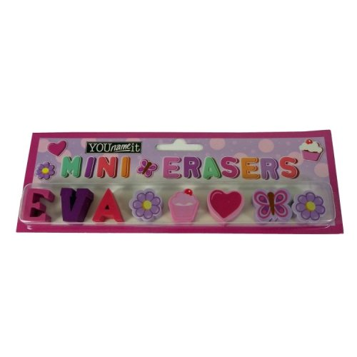 Childrens Mini Erasers - Eva