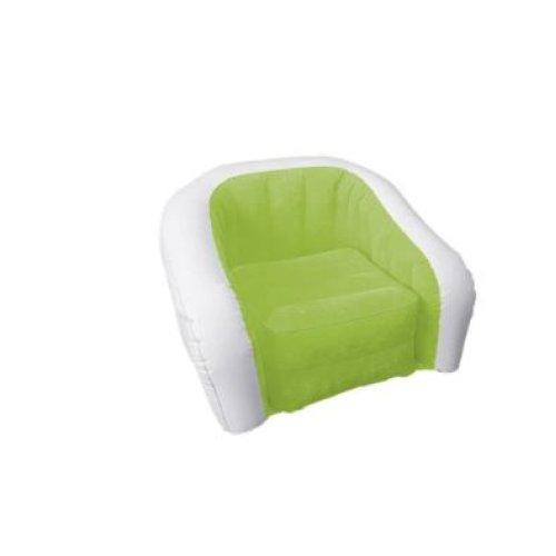 Yellowstone Cushy Chair Single Green and White