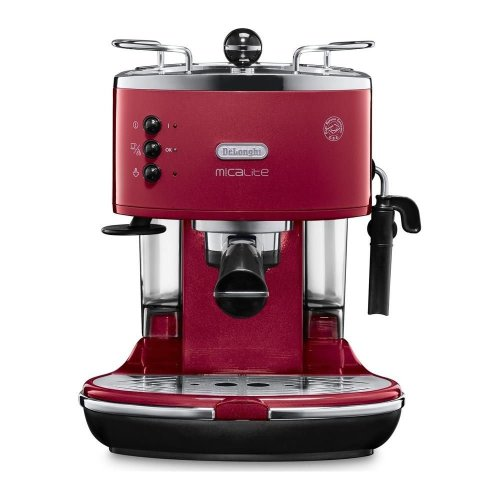 DELONGHI Icona Micalite ECOM 311.R Coffee Machine - Red, Red