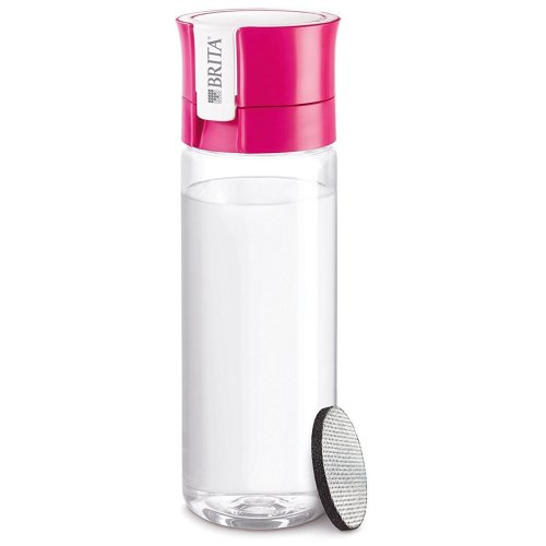 BRITA fill&go Vital Water Filtration Bottle 0.6L with 1 MicroDisc Filter - Pink