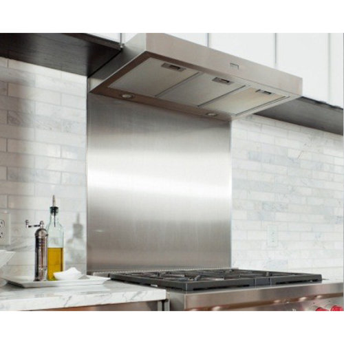 Satin Stainless Steel Splashback for Cooker Hobs