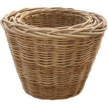 Set of 3 Oval Log Baskets