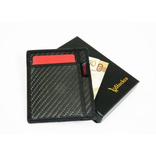 Black Carbon Fibre Card Wallet | RFID Blocking Card Holder