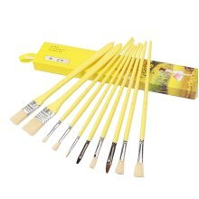 10pcs Professional Paint Brushes Artist for Watercolor Oil Acrylic Painting [E]