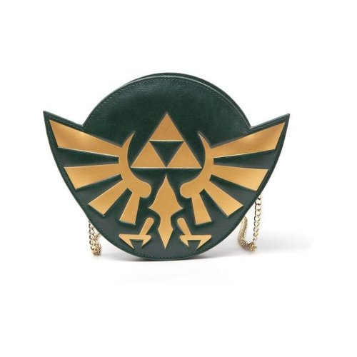 Nintendo Legend of Zelda Golden Hylian Royal Crest Ladies Purse - Green
