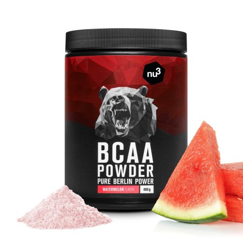 nu3 BCAA Powder Watermelon | 400g BCAA powder | Fresh melon taste | Optimal amino acid ratio of 2:1:1 | For bodybuilding & endurance athletes |...