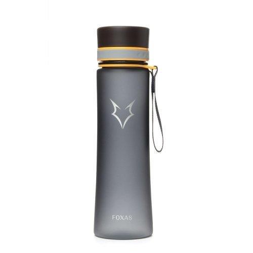 Sports Water Bottle 600ml FOXAS Sports Water Bottle 600ml 20 oz Sporty Handy Plastic Leak Proof Water Bottle TRITAN BPA Free Ideal for For fitness...