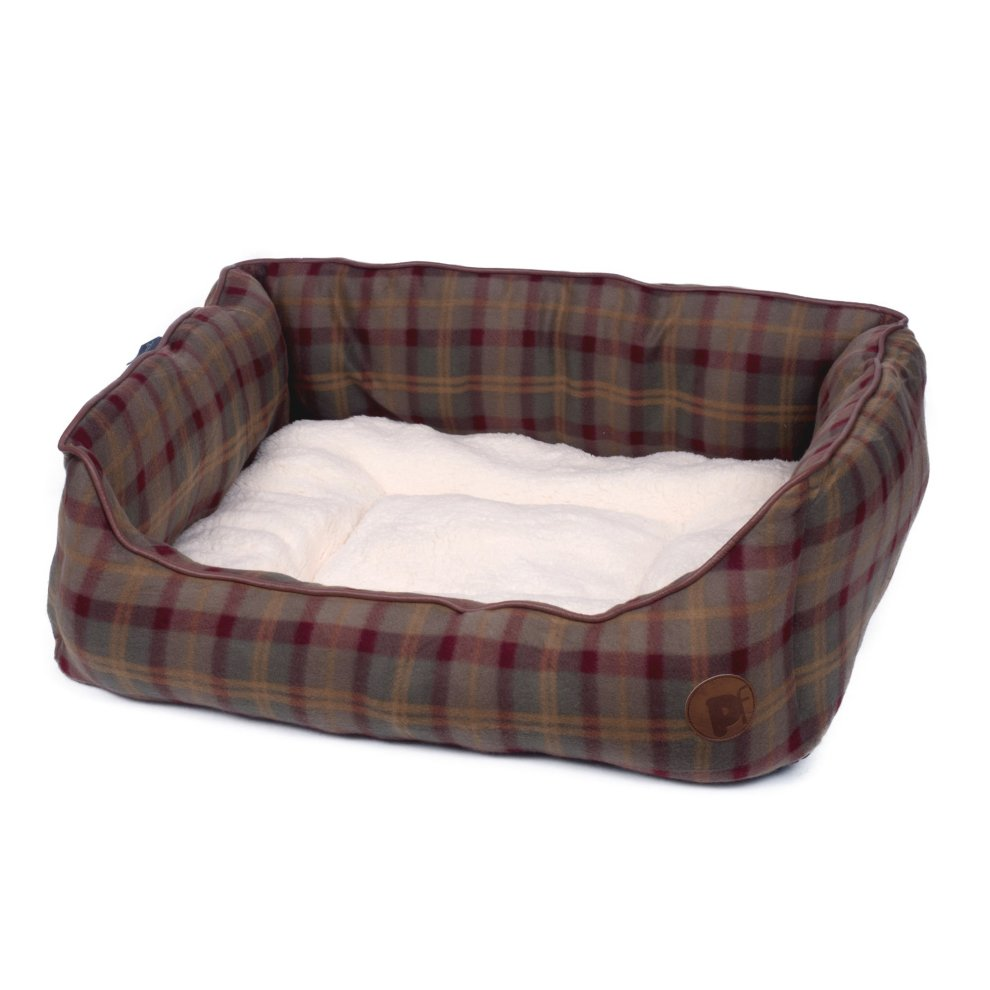 5f16afb230c3 Petface Country Check Square Dog Bed, X-Large on OnBuy