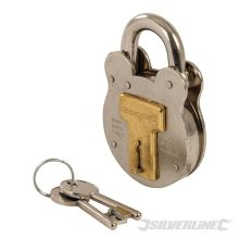 50mm Old English Padlock - Silverline 376867 Security -  old english padlock silverline 376867 50mm security