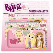 Bratz School Pack And Tin - Stationery Toys Dolls -  BRATZ SCHOOL PACK TIN STATIONERY TOYS DOLLS
