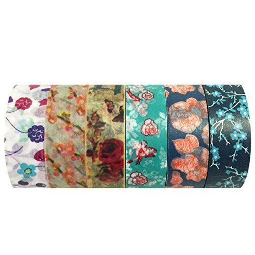 Wrapables VPK36 Washi Masking Tape Collection Premium Value Pack Set of 6