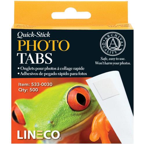 "Lineco Quick-Stick Photo Tabs 500/Pkg-.5"""