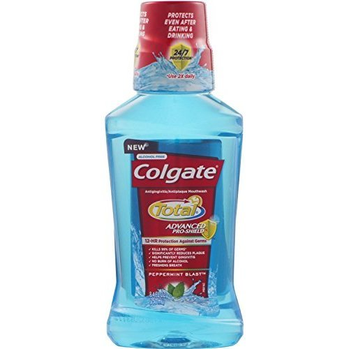 Colgate Total Advanced Pro-Shield Mouthwash, Peppermint Blast 8.4 oz (Pack of 2)