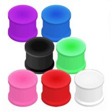 Urban Male Pack of Seven Flexible Silicone Ear Stretching Saddle Plugs Flared 12mm