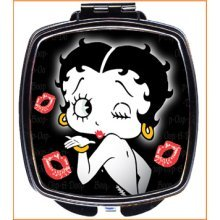 Betty Boop Black Compact Mirror