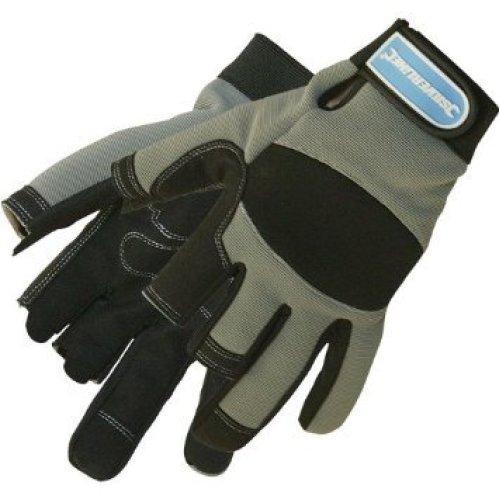 Large Silverline Part Fingerless Mechanics Gloves