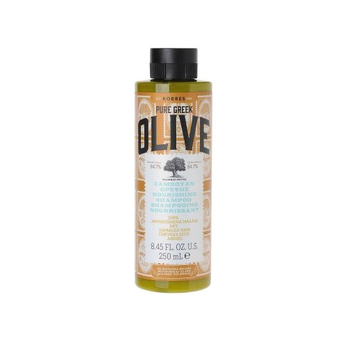 KORRES Natural Pure Greek Olive Nourishing Shampoo, 250 ml