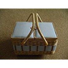 Split Opening Lid Rectangular Sewing Box 25x20x16cm