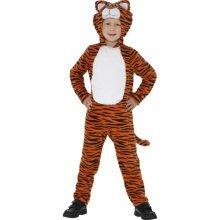 7-9 Years Children's Tiger Costume Hooded -