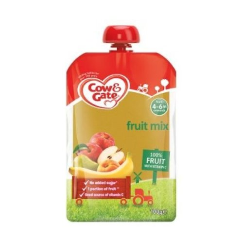 Cow & Gate Fruit Pouch Apple & Banana (6 x 100g)