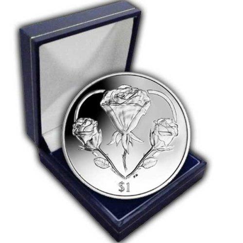 British Virgin Islands 2015 British Virgin Islands Rose - A symbol of Love Unc. CuNi Coin in a box