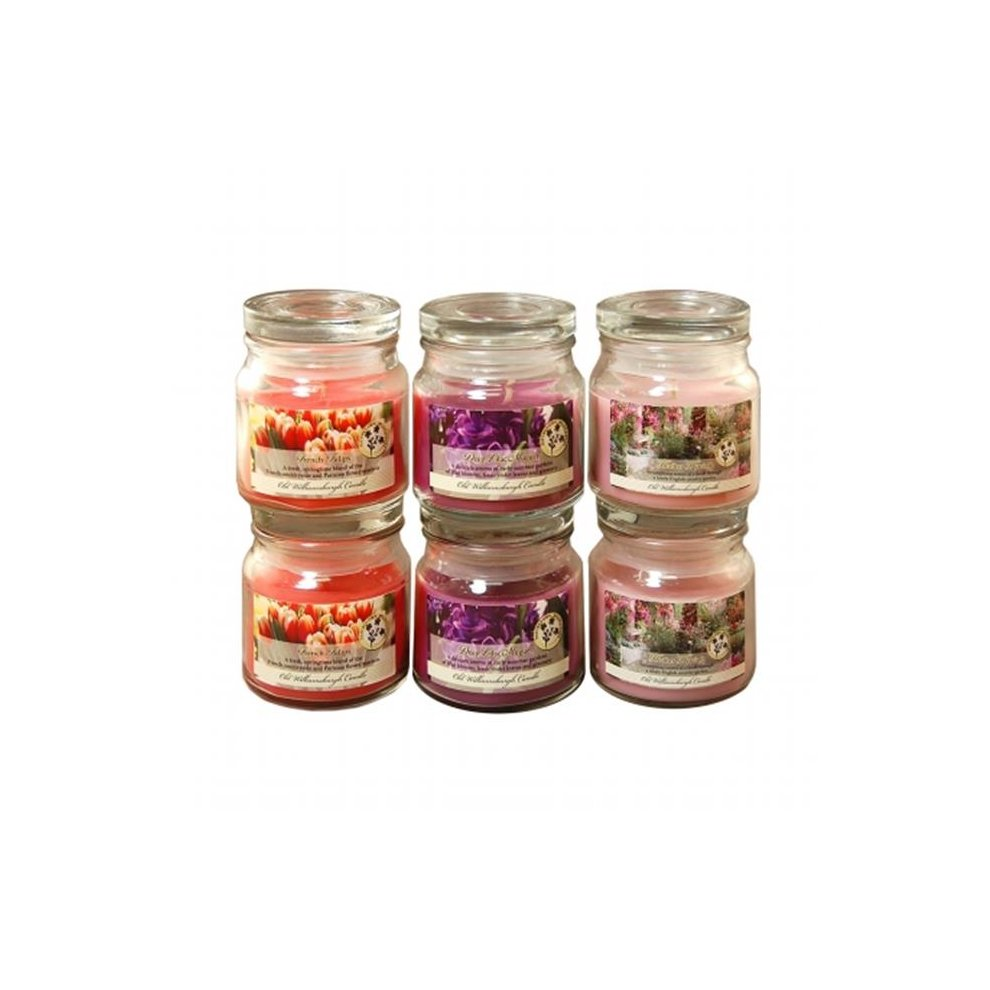 c47bfe60a00c Lumabase 27406 2.5 oz Floral Collection in Jar Scented Candles, Multicolor  - 6 Count