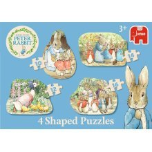 Peter Rabbit 19477 Classic 4-in-1 Shaped Puzzle
