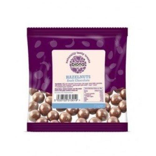 Biona - Plain Chocolate Covered Hazelnuts 70G x 12