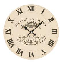 Premier Housewares Vintage Home Wall Clock - Cream