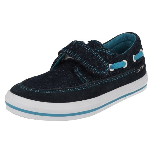 Boys Startrite Casual Canvas Shoes Coast - Denim Canvas - UK Size 12F - EU Size 30.5 - US Size 13