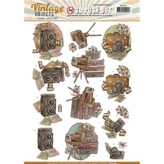 Find It Trading SB10254 Yvonne Creations Vintage Objects Punchout Sheet - Vintage Camera