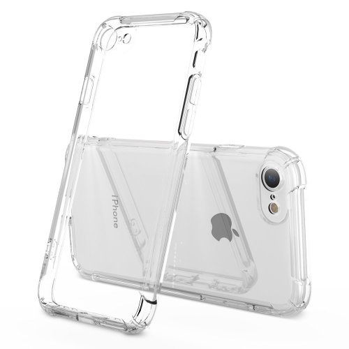 best service 80cab 5cf0e iPhone 7 Case iPhone 8 Case Clear Shockproof-Ultra Light Soft TPU Silicon  Case Cover Skin HZRICH[With Free Full Glass Screen Protector][Lens...