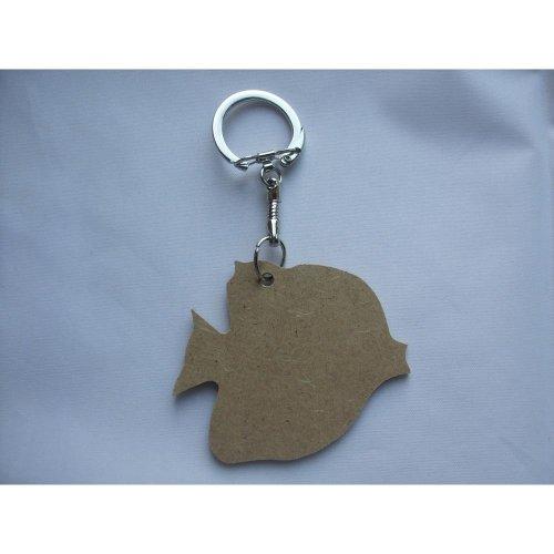 MDF Wooden Keyring For Decoration - Angel Fish Shaped