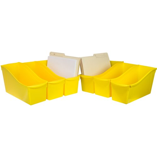 "Storex Large Book Bin 14.3""X5.3""X7""-Yellow"