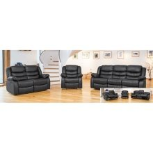 Sergei Leather 3 Seater Recliner in Choiice of Colours
