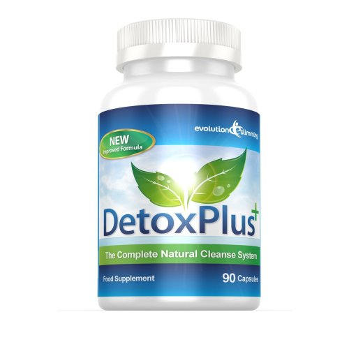 DetoxPlus Plus Colon Cleanse Natural Cleansing System for Weight Loss and Bloating (90 Capsules) by Evolution Slimming