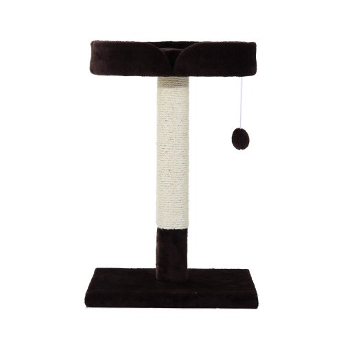 Pawhut 70cm Height Cat Tree Scratching Post Furniture Activity Kitten Exercise Brown