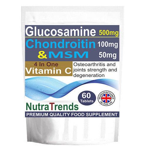 Glucosamine,Chondroitin,MSM ,Vitamin C UK Made