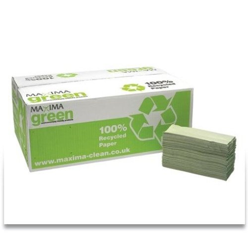 Maxima Green C-fold Hand Towels Green 1ply 15 X 144's