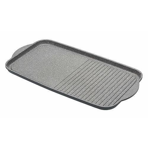 """MasterClass Cast Aluminium Non-Stick Induction-Safe Griddle Plate, 51 x 27 cm (20"""" x 10.5"""")"""