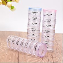 7 Layer Sample Container Face Cream Cosmetic Empty Travel Set Portable Plastic