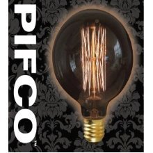 PIFCO G95 40 Watt E27 ES Vintage Large Globe Retro Light Bulbs