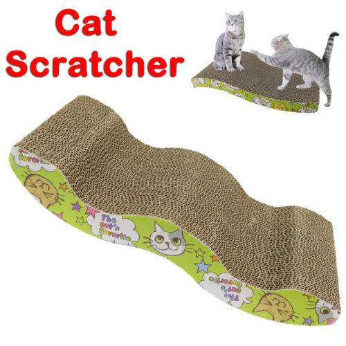 Cat Kitten Cardboard Corrugated Scratcher Scratching Pad Sofa Bed Board Mat UK