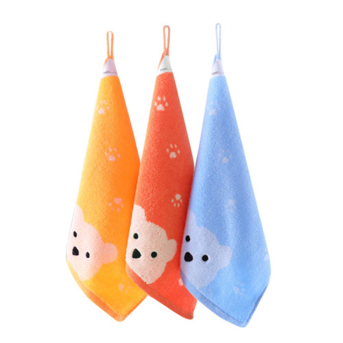 Soft Absorbent Cotton Towels Square Towels for Baby 3 Packs
