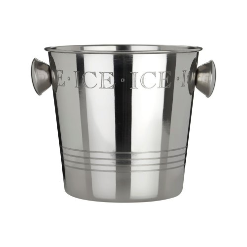 Bombay Ice Bucket with Handles, Stainless Steel - Silver